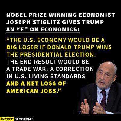 Resultado de imagen para Stiglitz Trump