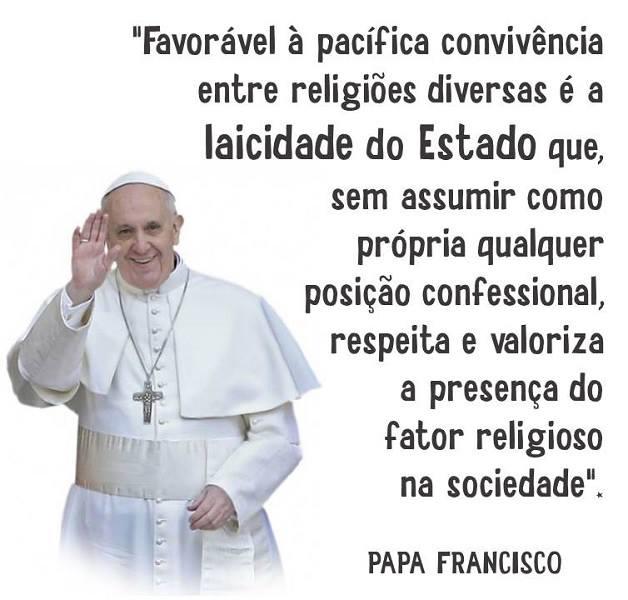 Resultado de imagen para papa francisco estado laico